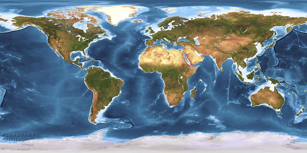 Global earth texture map with bathymetry we created this s flickr planetaryvisions global earth texture map with bathymetry by planetaryvisions gumiabroncs Image collections