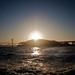 Bay bridge bypass: Sunset behind Yerba Buena island