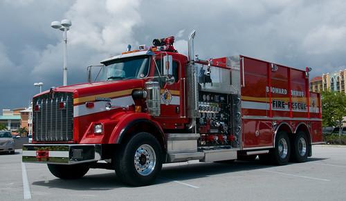 Broward Sheriff Fire Rescue Fl Kenworth Pierce Engine
