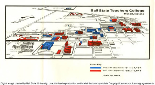 Map of Ball State Teachers College, 1964 | To learn more, vi… | Flickr