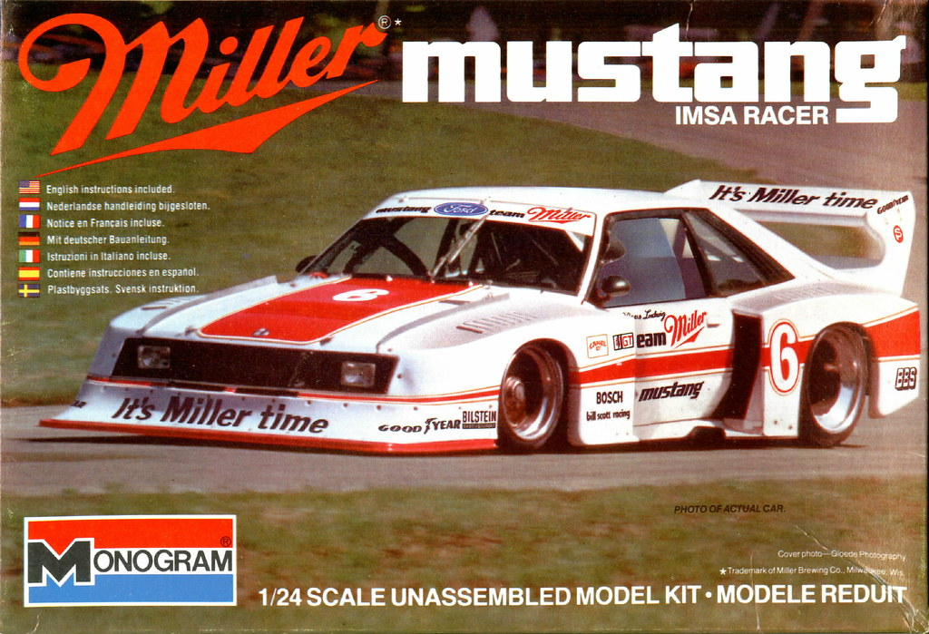 Mustang Model Kit >> 1982 IMSA Miller Ford Mustang,Klaus Ludwig,Monogram Model … | Flickr