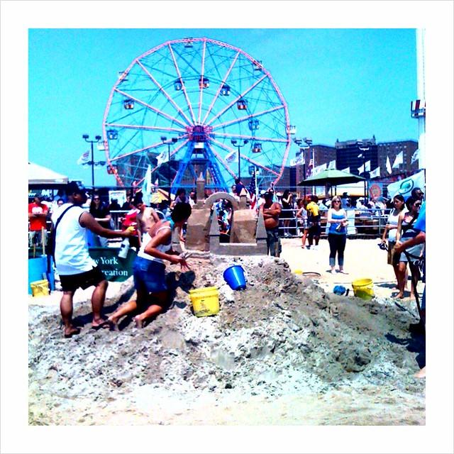 Coney Island Sand Castle Contest  Display