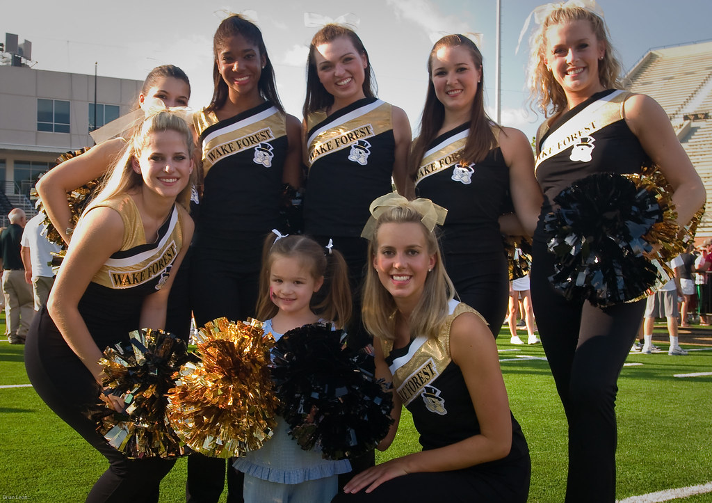 Madeleine and the Wake Forest Cheerleaders | Madeleine ...
