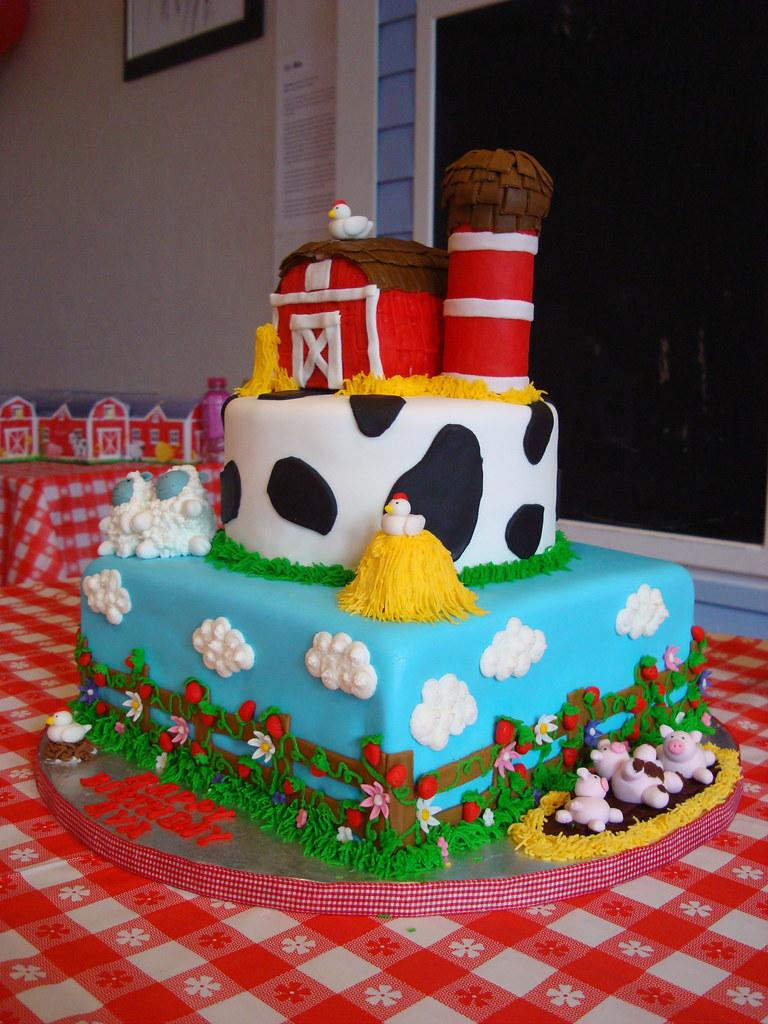 Barnyard Theme Cake Barnyard Themed Birthday Cake Jennifer