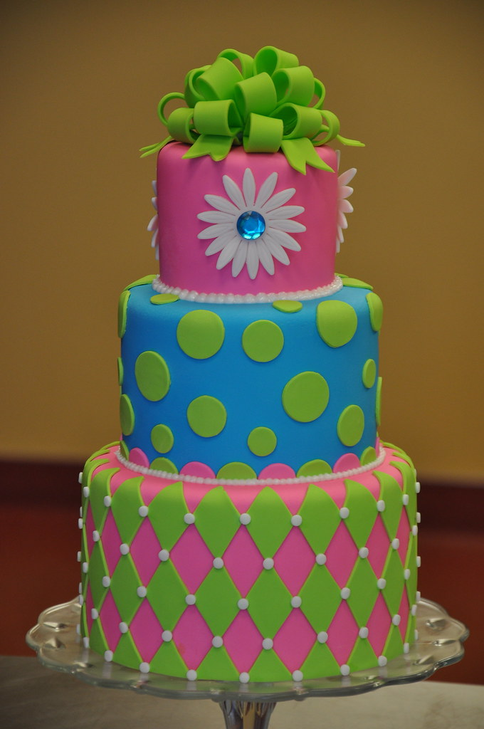 Neon Birthday Cake April Flickr