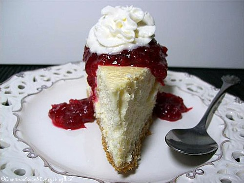 Cranberry Cheesecake | by CinnamonKitchn