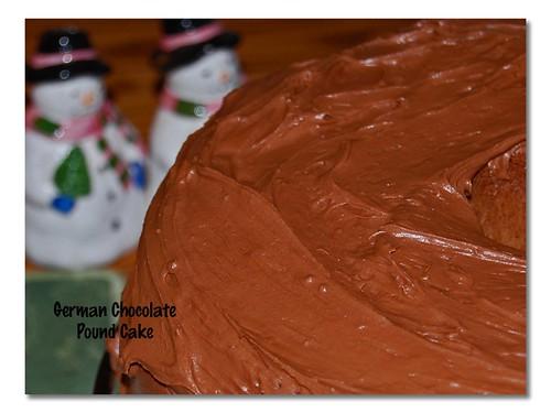 German Chocolate Pound Cake Buttermilk