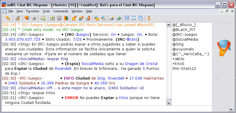 terra chat irc hispano
