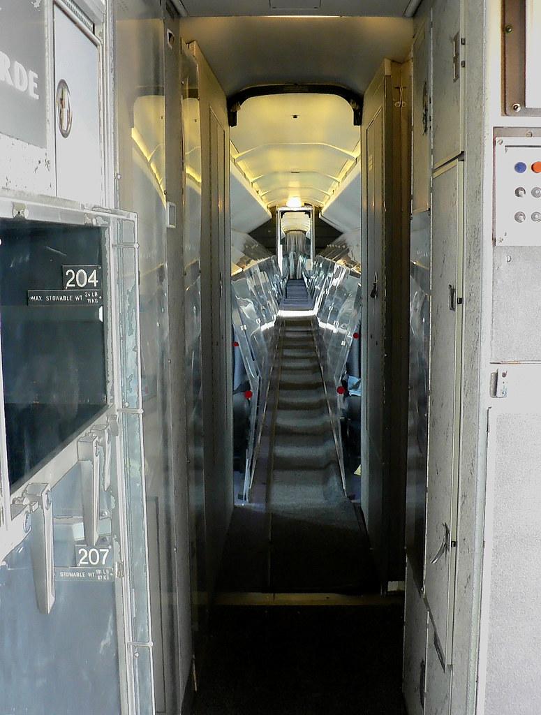 British Airways BAC Concorde (G-BOAD) Interior - FWD Galle ...
