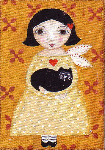 Fairy with Black Manx cat | by purplecat44