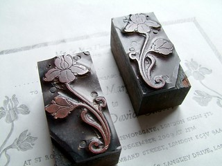 Type layout with antique floral letterpress blocks | by typoretum