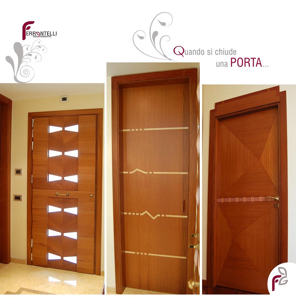 porte interne in legno iroko   porte in legno iroko   falegnameria ...