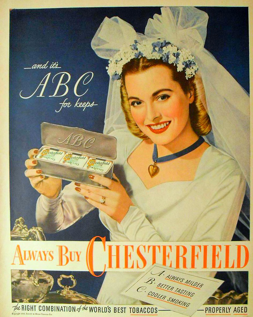 Free wedding dress images - 1946 Bride Wedding Dress Chesterfield Cigarettes Vintage A Flickr