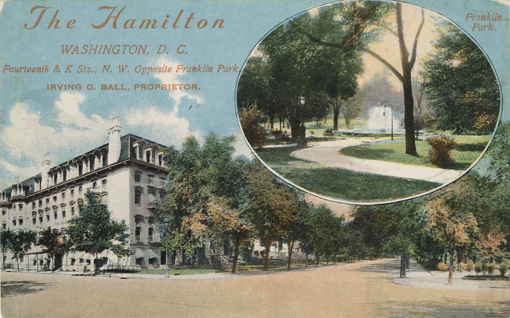 hotel hamilton and franklin park c 1910 here 39 s a. Black Bedroom Furniture Sets. Home Design Ideas