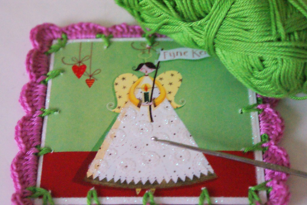 crochet around an old Christmas card | Corry | Flickr