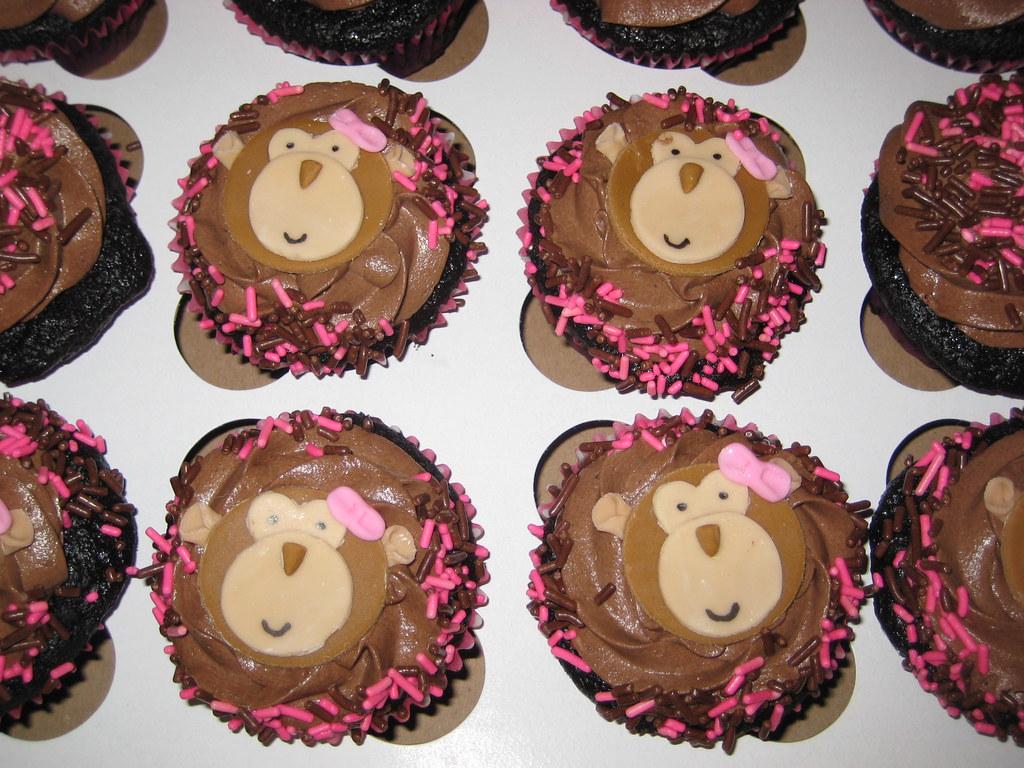 Baby Shower Monkey Girl Cakes