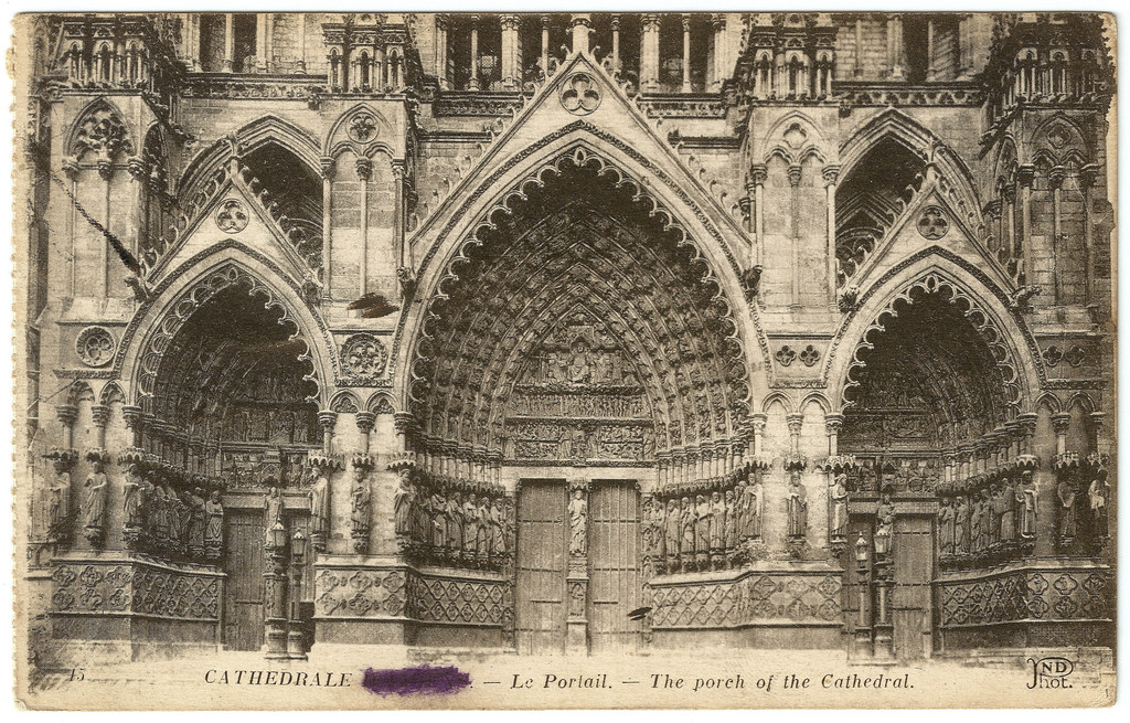 amiens cathedral entrance portals before the great war. Black Bedroom Furniture Sets. Home Design Ideas