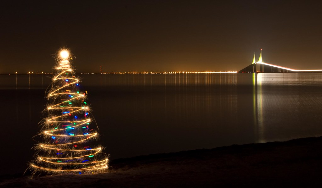 Sparkler Christmas Tree At The Skyway Bridge 4 I Added