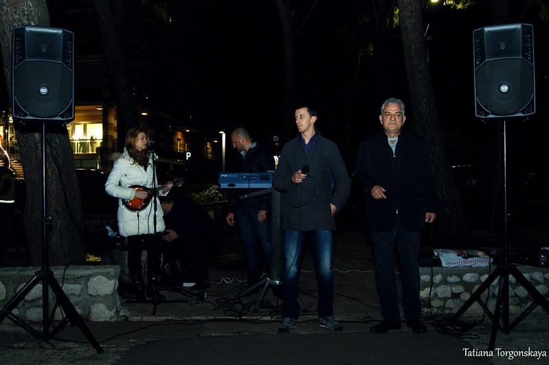 """Duje & Castelnuovo bend"" на фестивале ""Открытая улица"" в Игало"