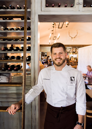 Chef David Bancroft stands in his restaurant, Acre.