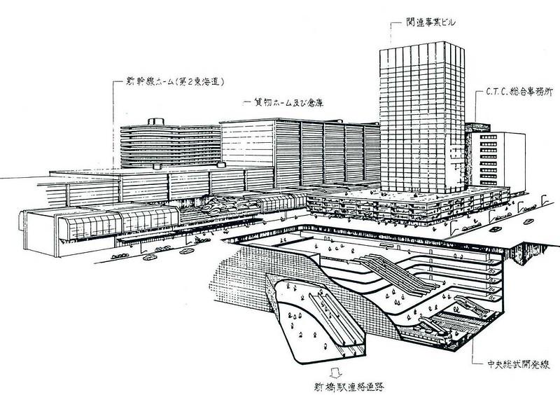 汐留駅は京葉線総武開発線とリニアモーターカーのターミナルとなるはずだった (1)