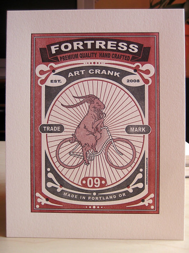 art crank print proof | by fortress letterpress