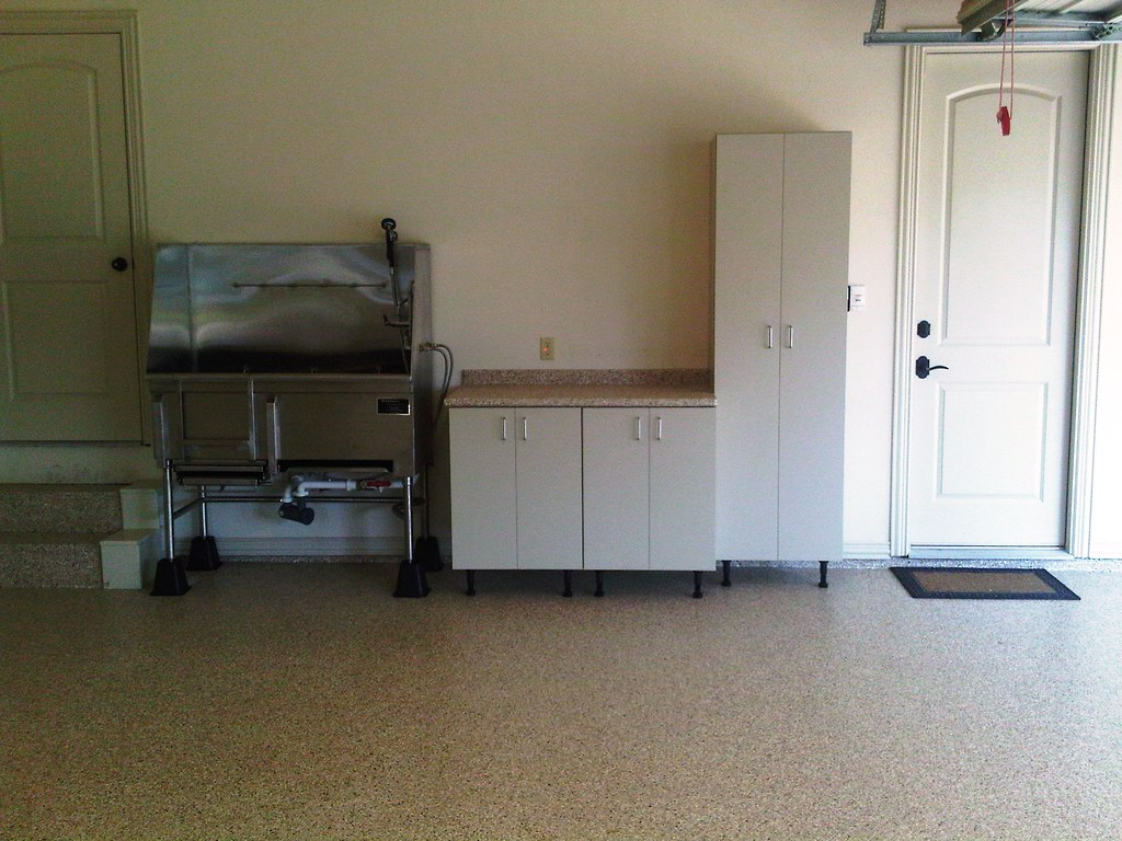 Dog Wash Bay With Cgw Garage Cabinets And Workbench And Cu