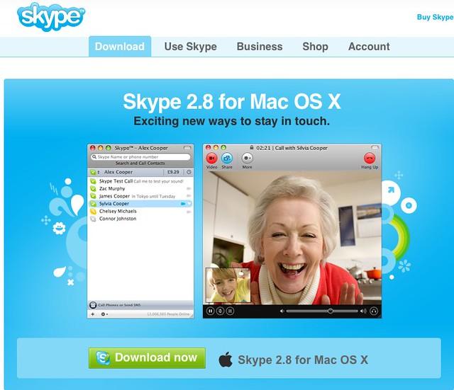 Skype mac os x english