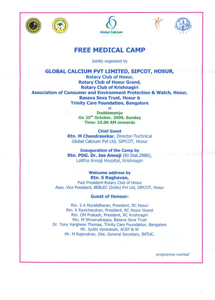 Letter Format For Medical Camp