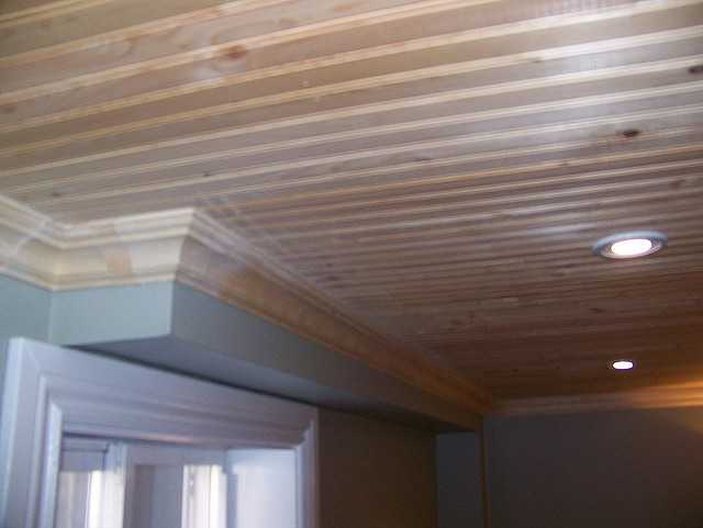 Basement Pine Ceiling Pine Ceiling With Crown Molding