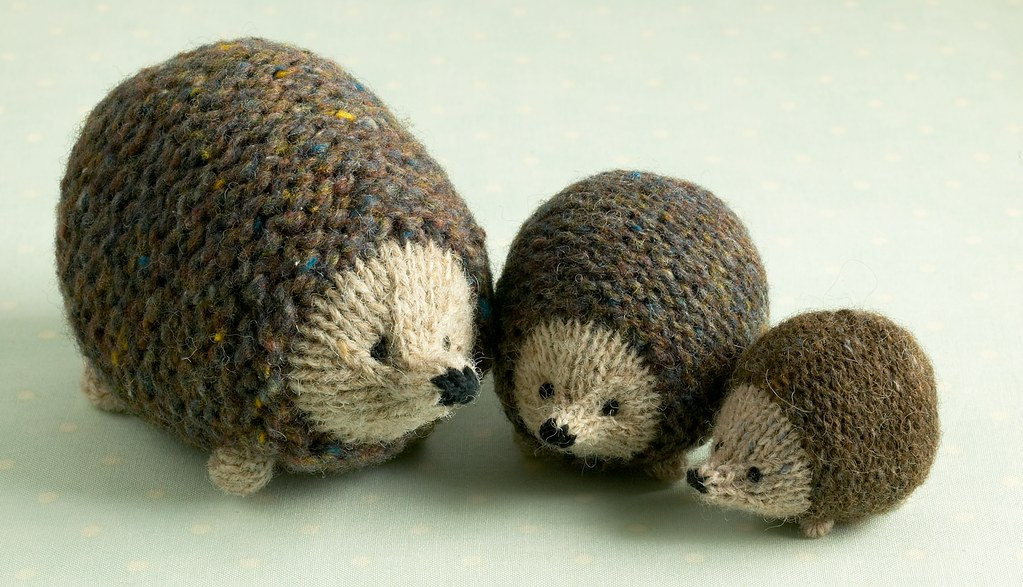 hedgehog family All made from the same pattern but with ...