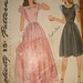 Vintage 1940s Evening Dress Pattern Choose from Long or Short Simplicity 1165 Size 10 Bust 28