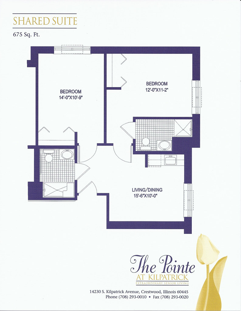Shared suite a shared suites floor plan 675 sq ft each for 675 sq ft floor plan