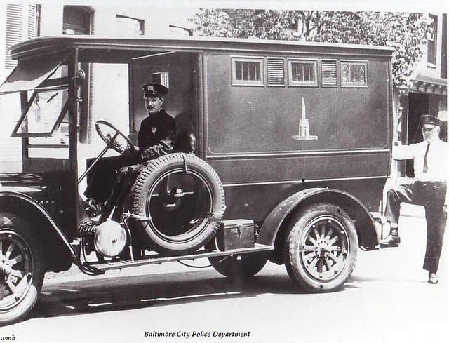 1920 39 s baltimore police patrol wagon 1920 39 s baltimore city flickr. Black Bedroom Furniture Sets. Home Design Ideas