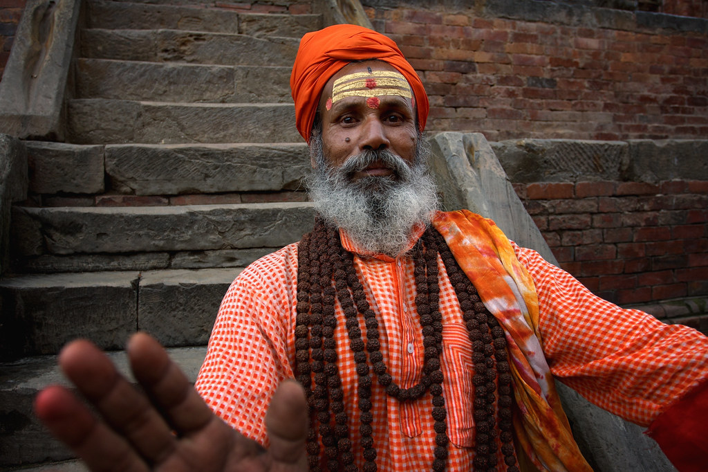 A Saddhu Strikes A Pose