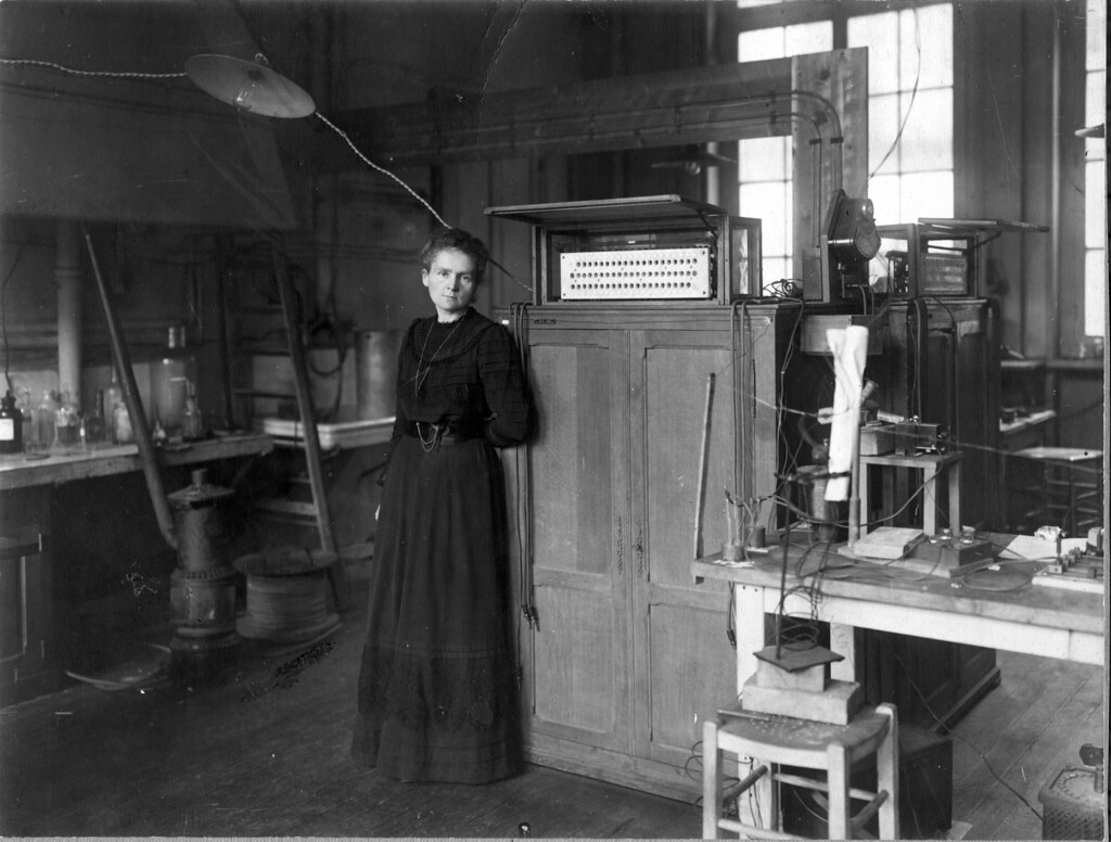 Madame Curie In Her Laboratory  Presented To Martha Van Re