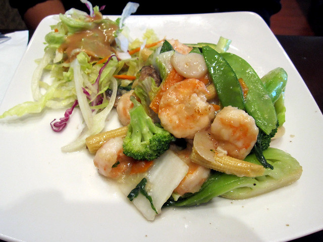 Shrimp With Asian Greens Recipe — Dishmaps  |Shrimp With Mixed Vegetables