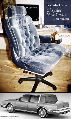 chaise de bureau chrysler new yorker les si ges d 39 auto son flickr. Black Bedroom Furniture Sets. Home Design Ideas