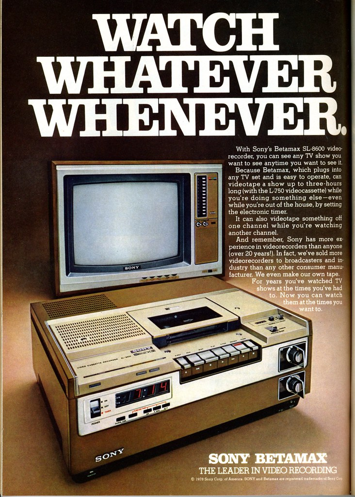 sony betamax 1978 watch whatever wheneve sony betamax th flickr