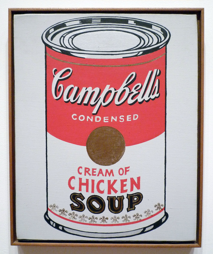 an analysis of andy warhols 32 campbell soup cans