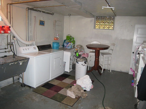 Unfinished Basement Laundry Room Chadica Flickr