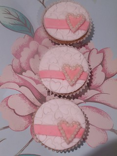 Pearl Heart Cupcakes | by claire's cakes