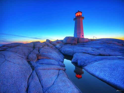 sunset at peggy's cove | by paul bica