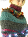 Xmas Tree Lights Handspun Capelet 1d | by Ginga Squid