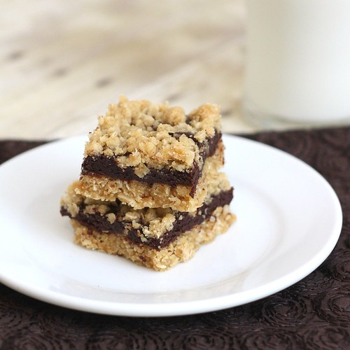 Oatmeal Fudge Bars | by Tracey's Culinary Adventures