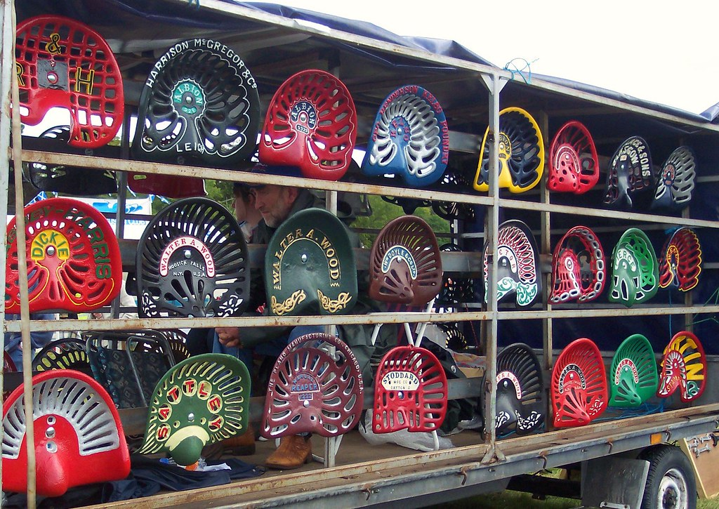 Old Tractor Seats : Vintage tractor seats seen at grantown show flickr