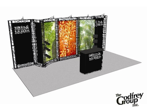 Trade Show Booth Graphics : Custom trade show booth graphics for fishing and hunting t