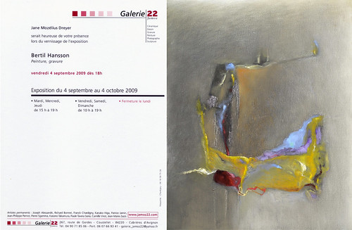 Exhibition in France - Provence. Galerie 22 - 4th September - 4th October | by [ SUD ] Bertil Hansson