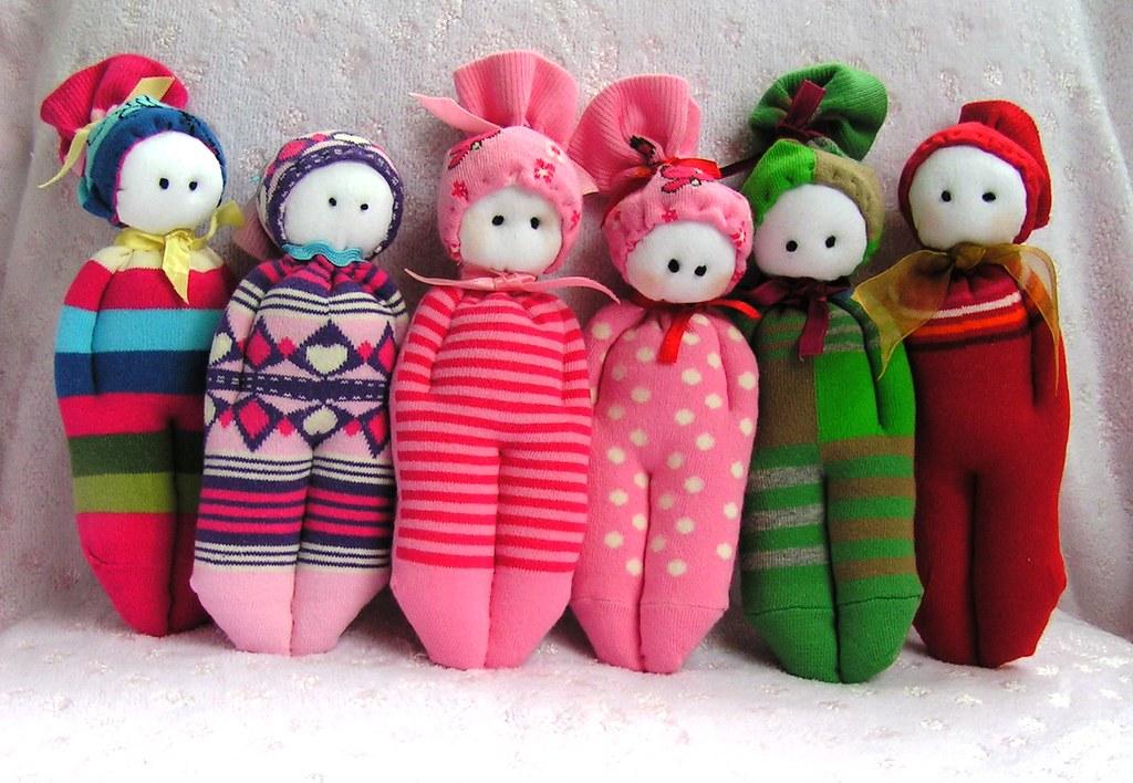 Куклы из капроновых носков своими руками