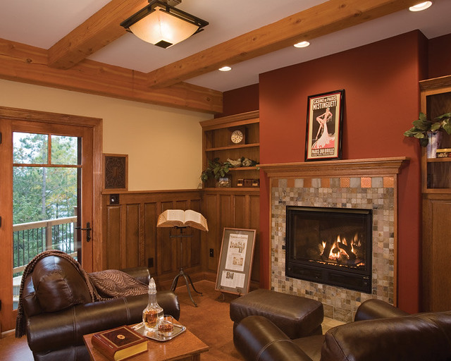 Timber treasure timber frame home den the low timbers for Home den